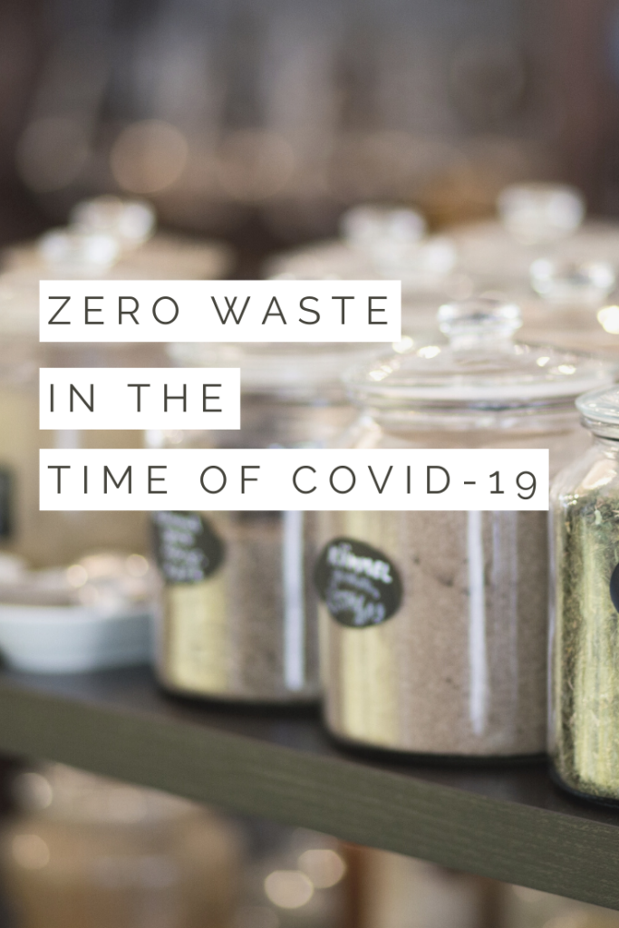 zero waste in the time of COVID pinterest pin image